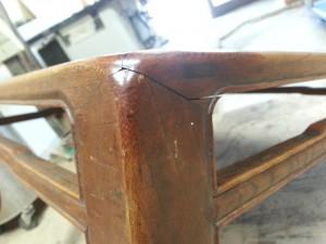 家具修理|座卓|修理前写真2枚目