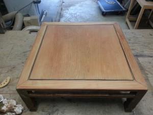 家具修理|座卓テーブル|研磨写真2枚目