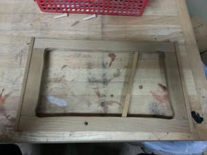 家具リメイク|茶箪笥|修理作業写真1枚目