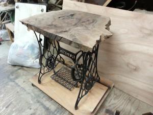家具修理|事例|ミシン台|天板