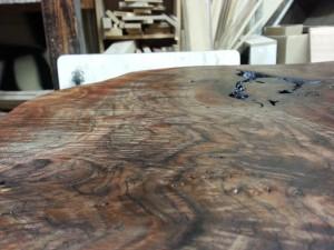 家具修理 事例 ミシン台修理 塗装