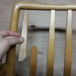 家具修理|椅子|背もたれ折れ|修理前