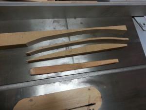 椅子の背もたれ部材作り工程