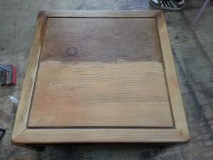テーブル、食卓、塗り替え、塗り直し、傷