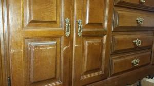 キャビネット、傷、部分修理、補修、扉