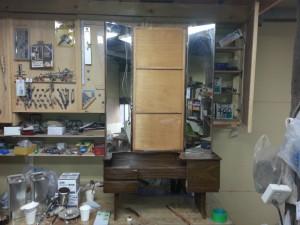 三面鏡、ドレッサー、化粧台、修復、リフォーム