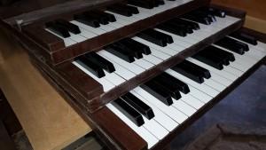 ピアノ、鍵盤、看板、立体、木製
