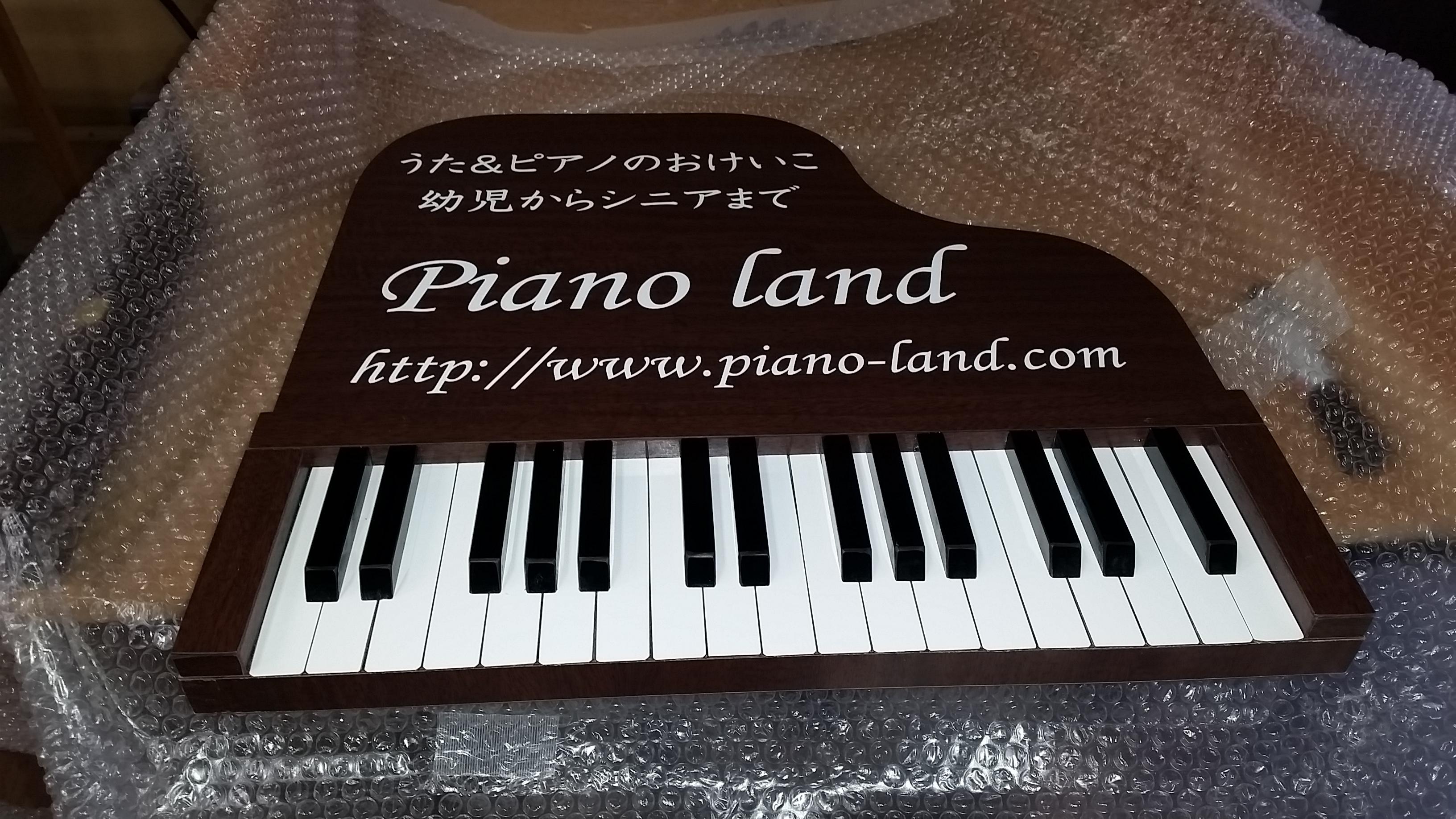 木製、ピアノ、看板、本物,立体