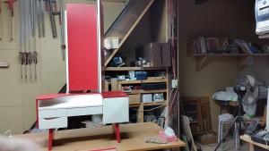ドレッサー,三面鏡,化粧台,リメイク,修理
