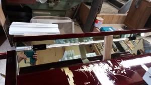 三面鏡、ドレッサー、キズ、傷、修理、修復
