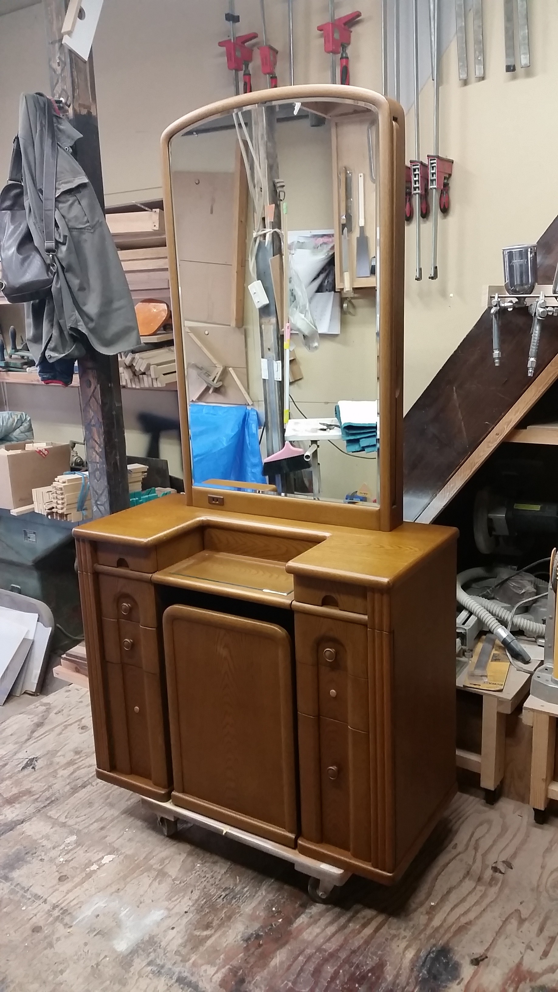 ドレッサー、三面鏡、化粧台、リメイク完成