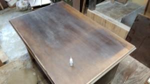 テーブルの塗替え修理前