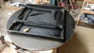 ちゃぶ台・座卓の修理 修理前裏